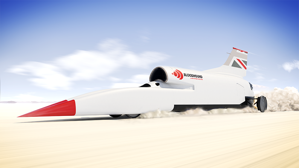 A rendering of the Bloodhound LSR