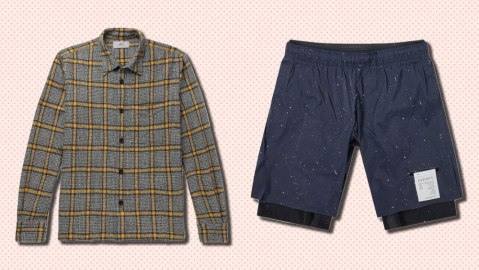 A Jacket from Mr Porter's Mr P line, and new running shorts from Satisfy.