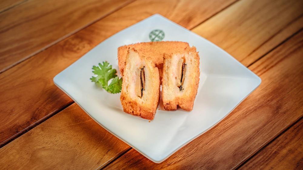 fried shrimp toast truffle foie gras