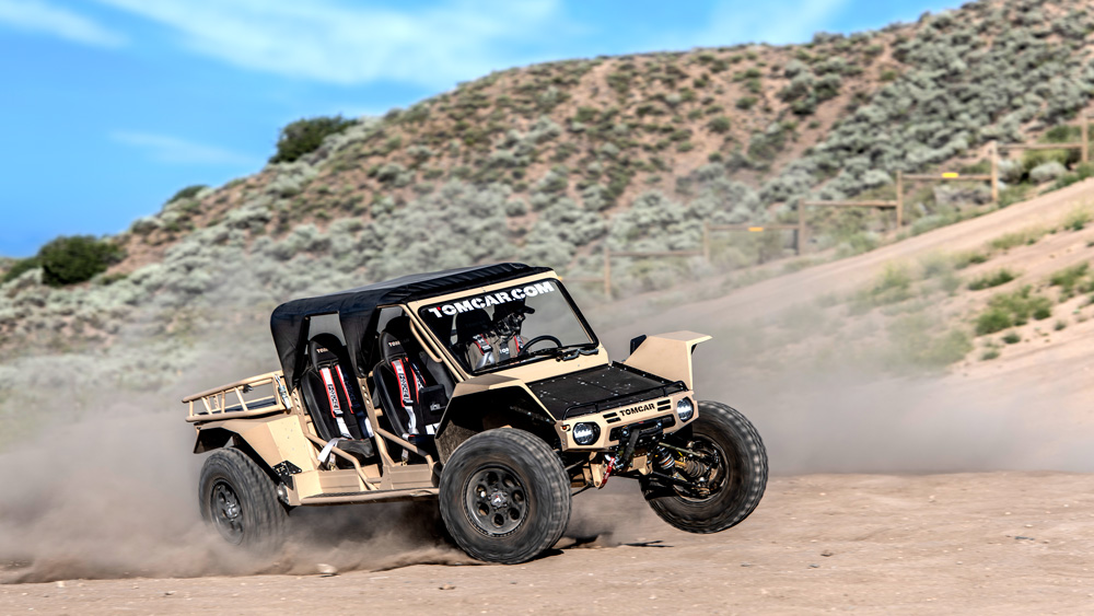 The 2020 Tomcar TX in four-seat configuration.