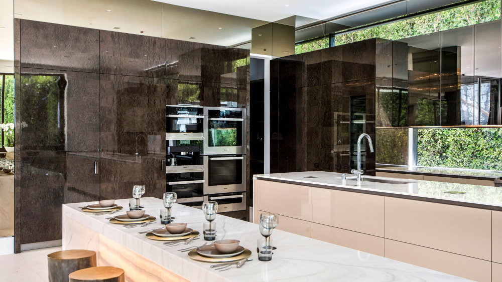 The Fendi-designed kitchen.