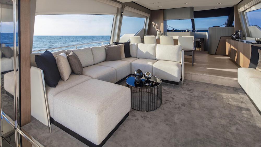 Italian Shipyard Ferretti Yachts 720 Cannes Yachting Festival