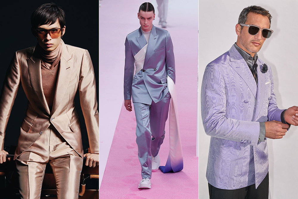 Looks from Tom Ford, Dior and Brioni.