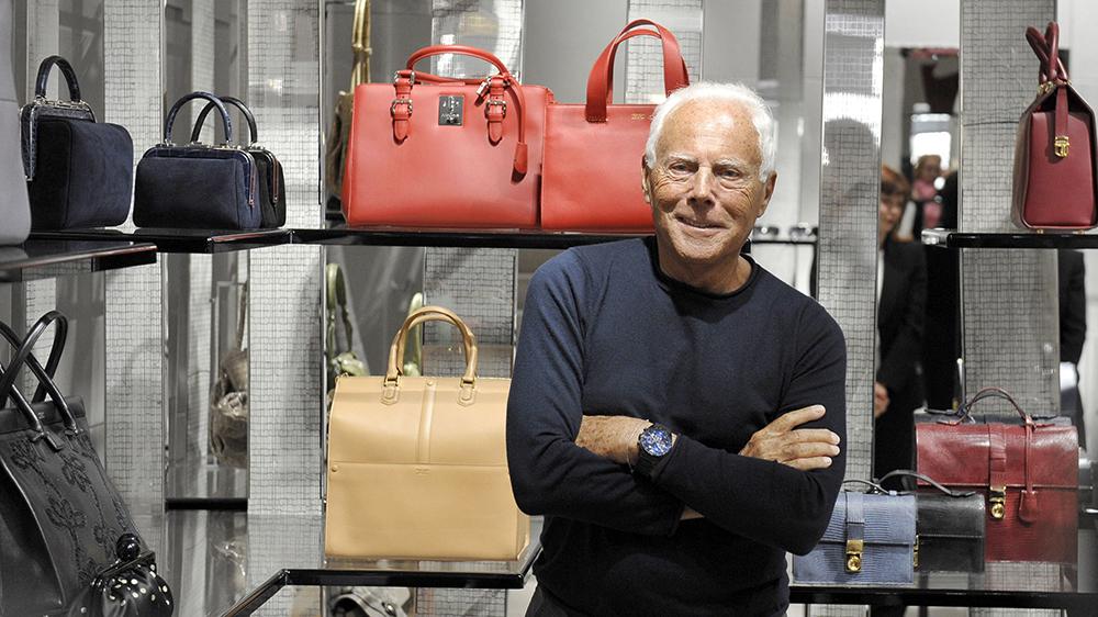 Giorgio Armani in his shop in Via CondottiGiorgio Armani out and about, Rome, Italy - 05 Jun 2013