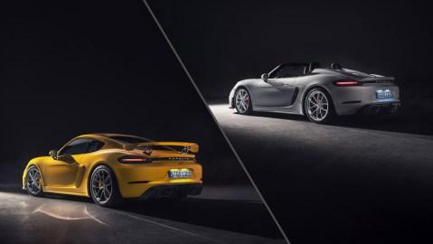 The New Porsche 718 Cayman GT4 and 718 Spyder.