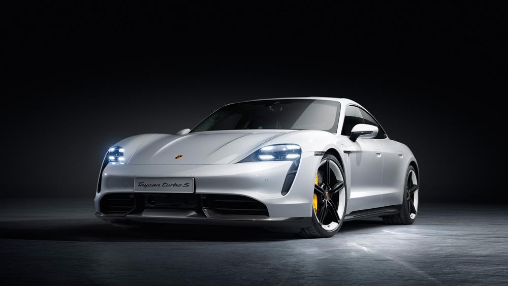 The Porsche Taycan Turbo S.