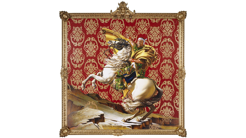 Kehinde Wiley, Napoleon-Leading the Army over the Alps, 2005.