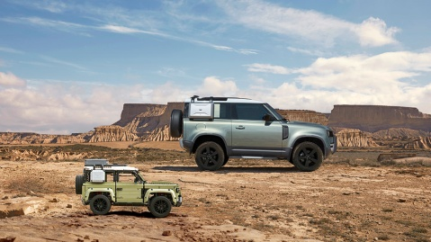 The Lego Technic Land Rover Defender and its inspiration, the 2020 Defender 90