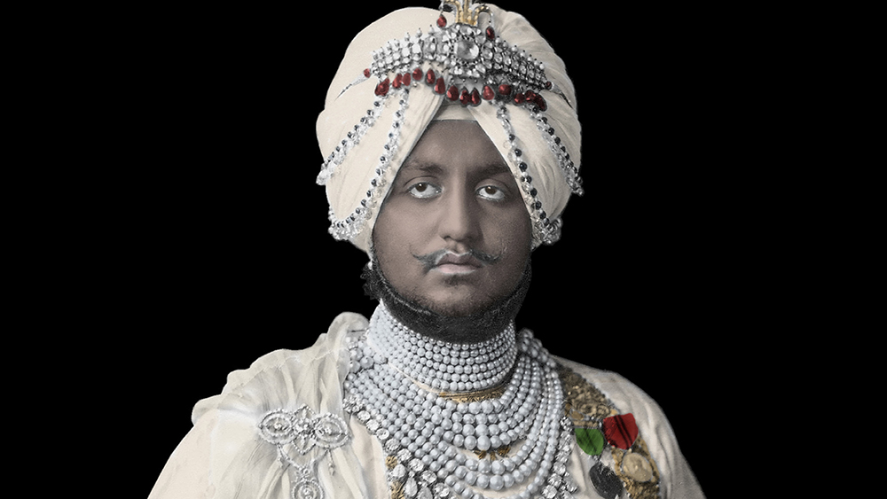 The Maharaja of Patiala in Cartier necklaces
