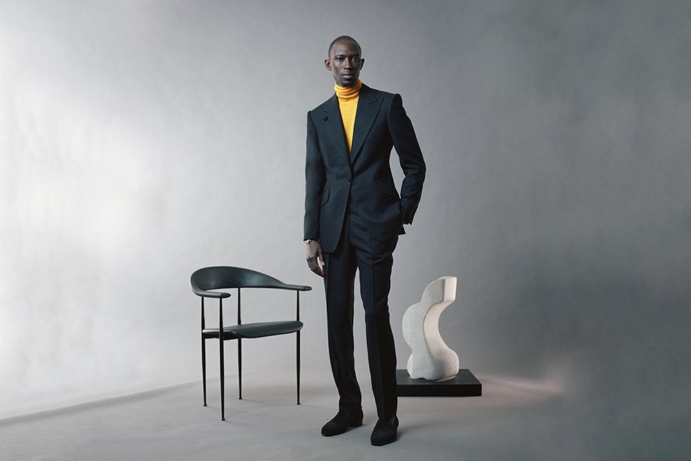 While some tailors can cut a suit after three or four fittings, Michael Browne prefers five or six.
