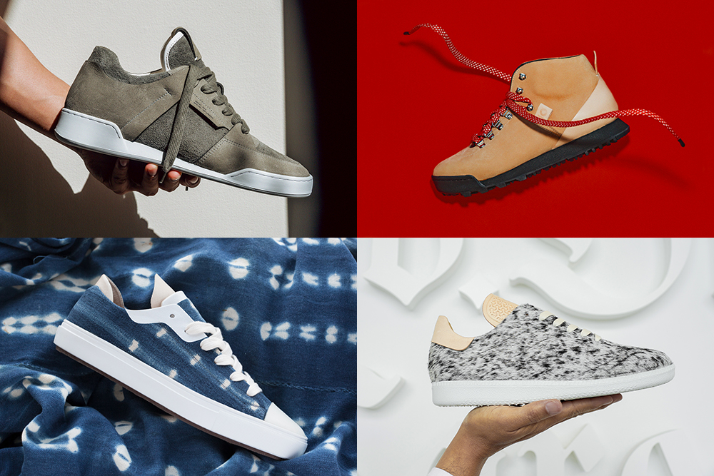 Clockwise from top left, the Delta, Gamma, Bravo and Charlie sneaker silhouettes from No.One.
