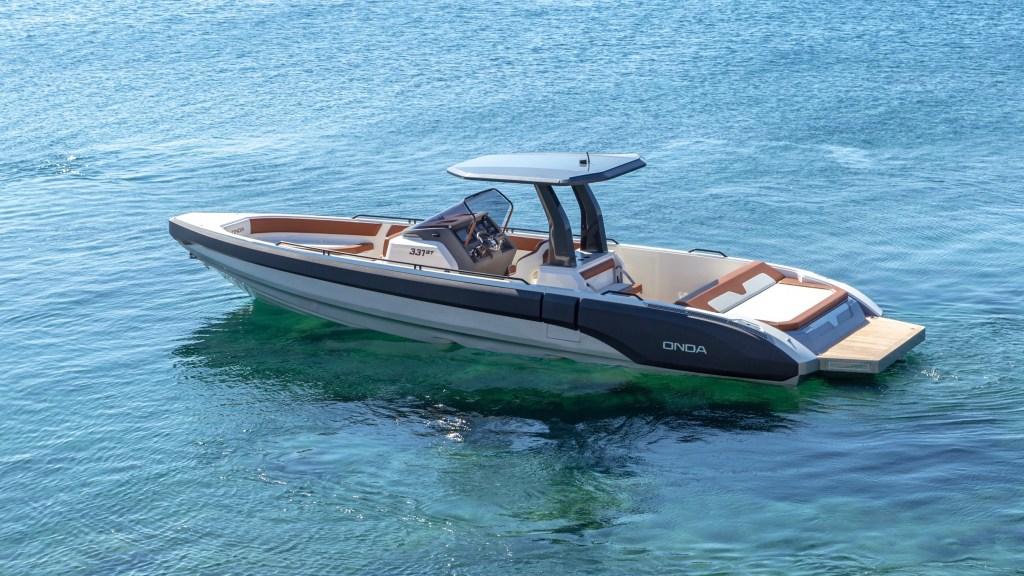 Greek Shipyard Onda Tenders Onda 331gt Inboard yacht Cannes Yachting Festival