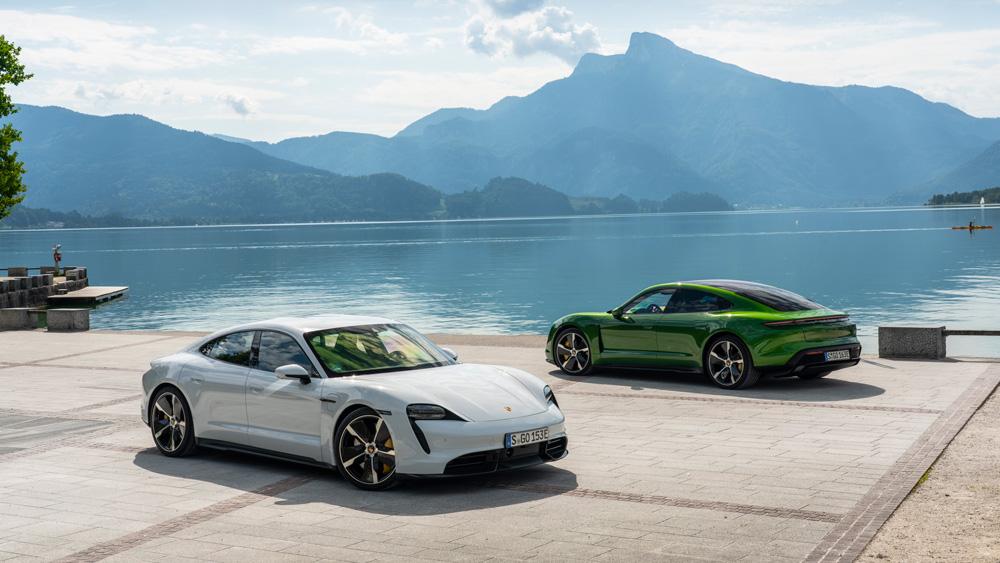 The Porsche Taycan range.