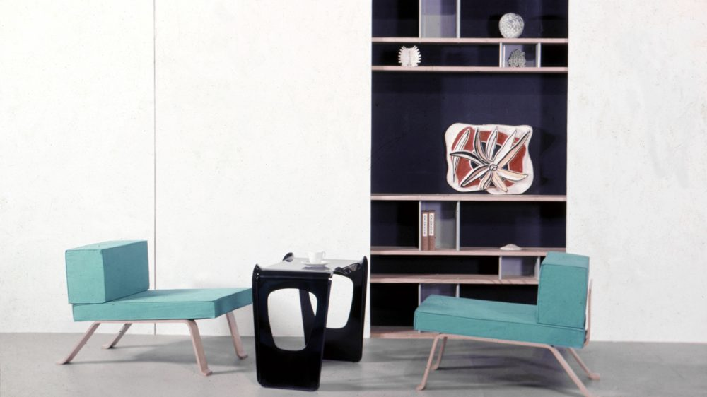 Salle de réception, with Perriand and Pierre Jeanneret's sideboard