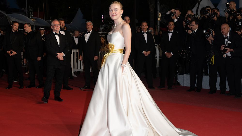 Dakota Fanning'Once Upon a Time In... Hollywood' premiere, 72nd Cannes Film Festival, France - 21 May 2019 Wearing Giorgio Armani, Custom