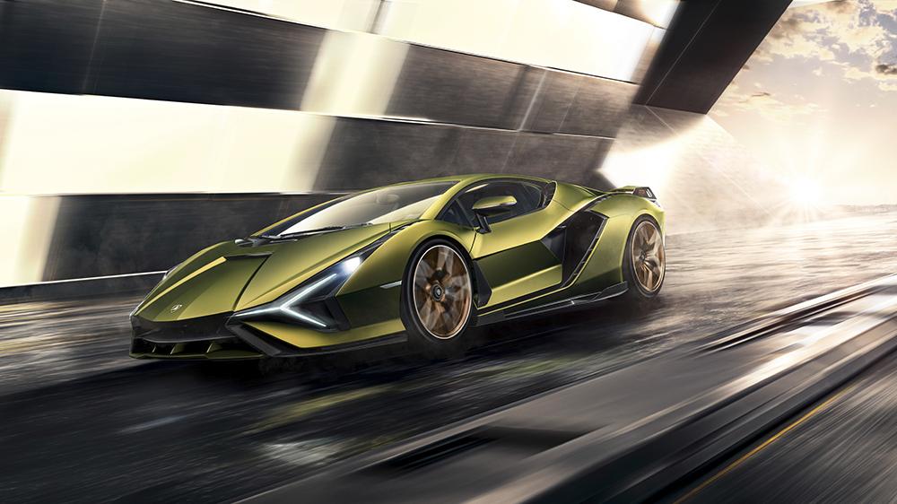 The Lamborghini Sián hybrid supercar