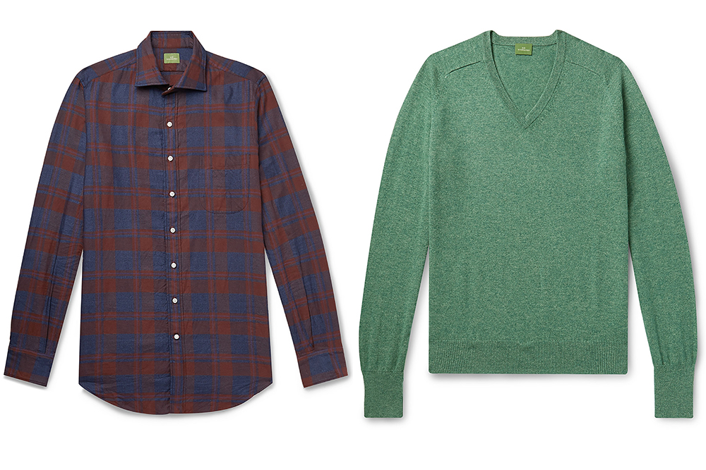 Pieces from Sid Mashburn's partnership with Mr Porter.