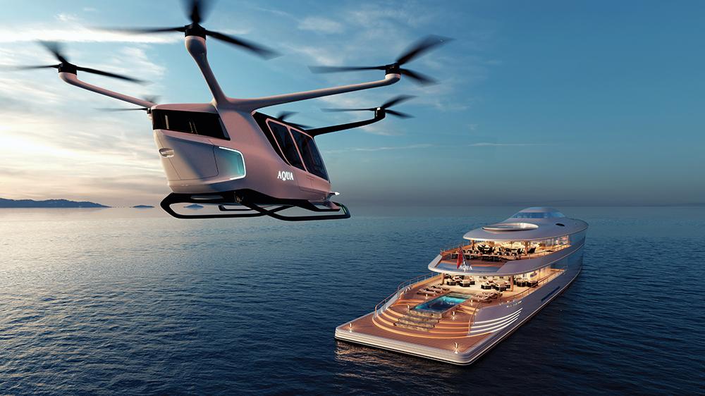 Sinot's new superyacht Aqua