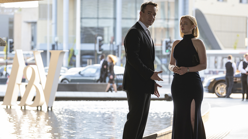 HBO Succession S2 06.02.2019 Dundee, Scotland 208/B34 EXT V&A MUSEUM - SHIV AND TOM'S CAR / ENTRANCE Shiv and Tom arrive, Tom won't play along. 208 44 EXT V&A MUSEUM - BOARDWALK Something is off with Kendall - she's not so awesome anymore. Succession S2 | Sourdough Productions, LLC Silvercup Studios East - Annex 53-16 35th St., 4th FloorLong Island City, NY 11101 Office: 718-906-3332