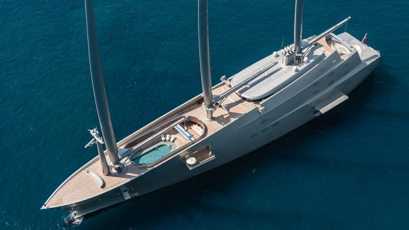 Nobiskrug, SY A: 469-foot sailing yacht