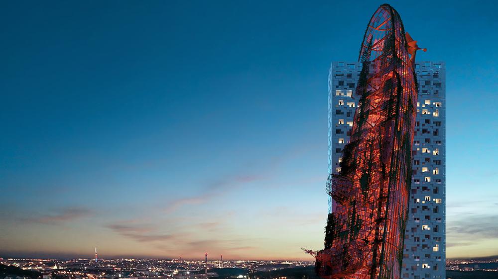 A rendering of Top Tower in Prague