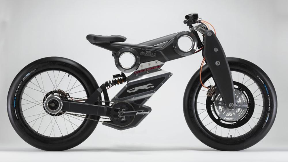 Moto Parilla's Ultra Carbon mountain e-bike