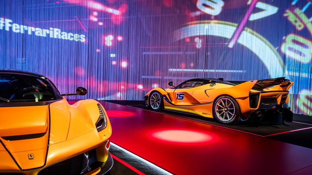 The Universo Ferrari exhibition.