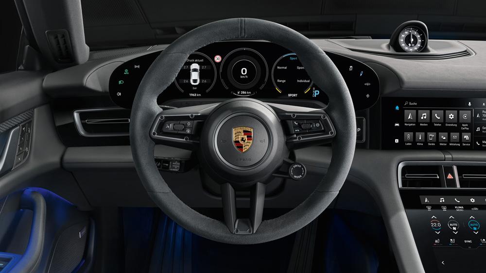 The Porsche Taycan 4S.