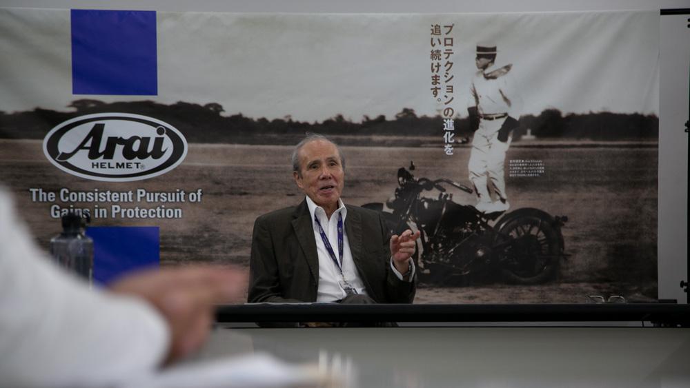 Mitchio Arai, president and CEO of Arai Helmet.