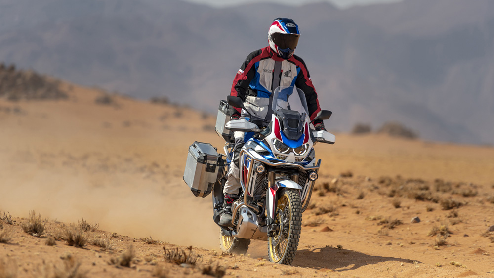 The 2020 Honda Africa Twin Adventure Sports ES.