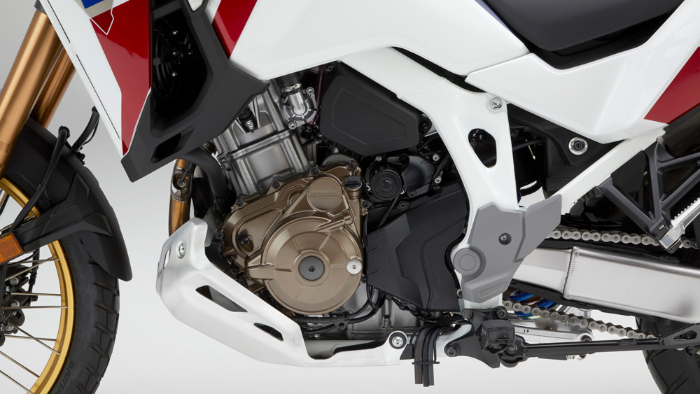 The Honda Africa Twin's 1084 cc parallel-twin motor.