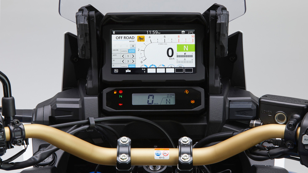 The new 6.5-inch TFT display on the Africa Twin Sports Adventure SE.