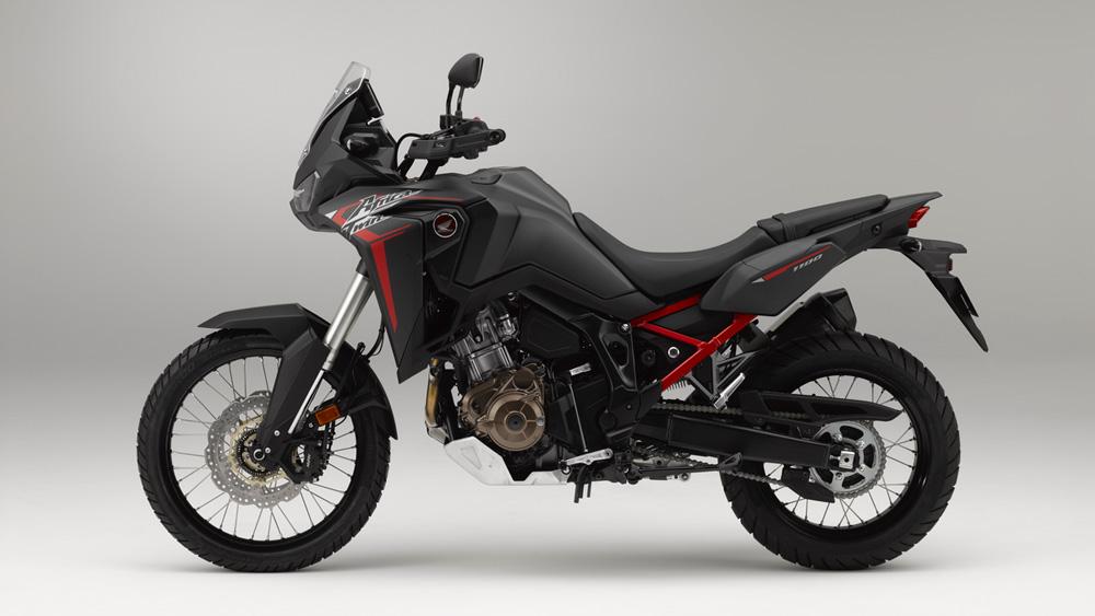 Honda's 2020 Africa Twin in Matte Black Metallic.