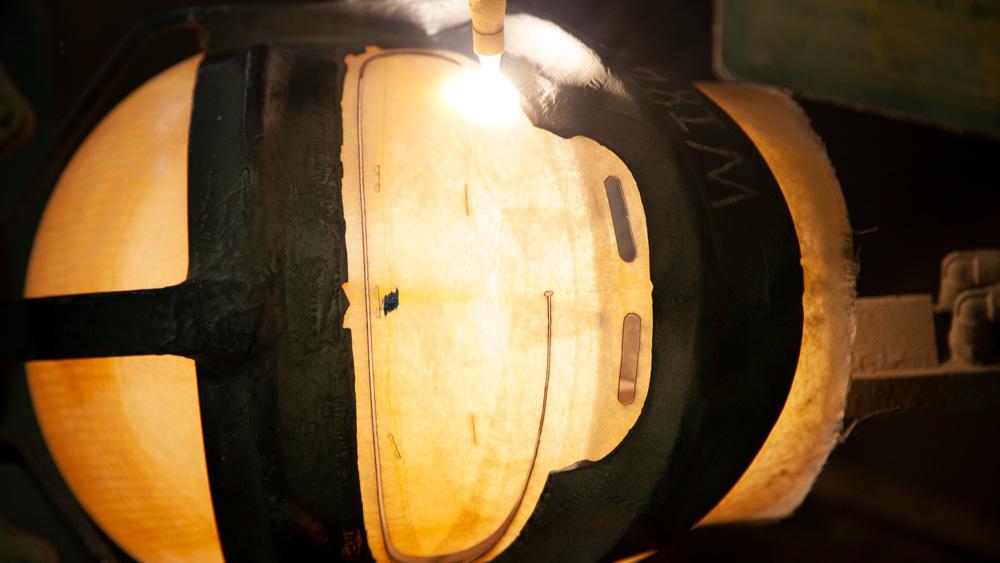 An Arai Helmet being made.