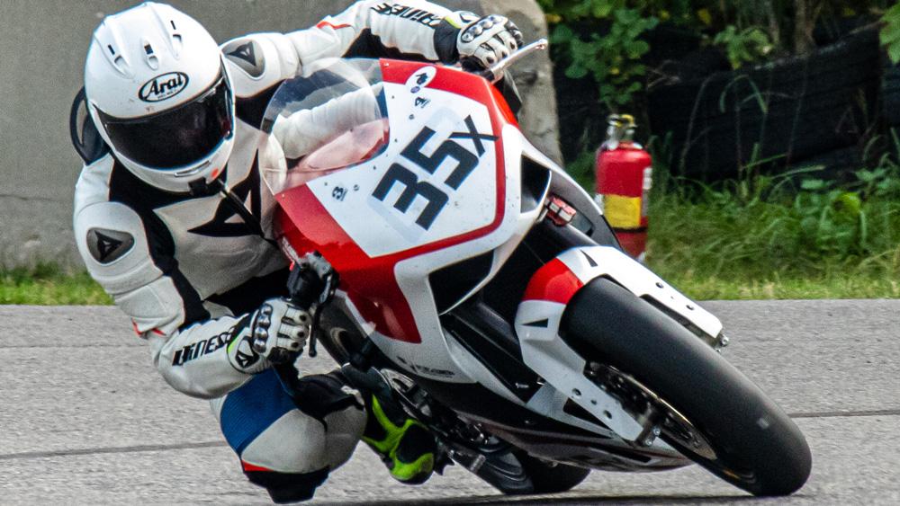 Racing on the Krämer HKR-EVO2 R motorcycle.