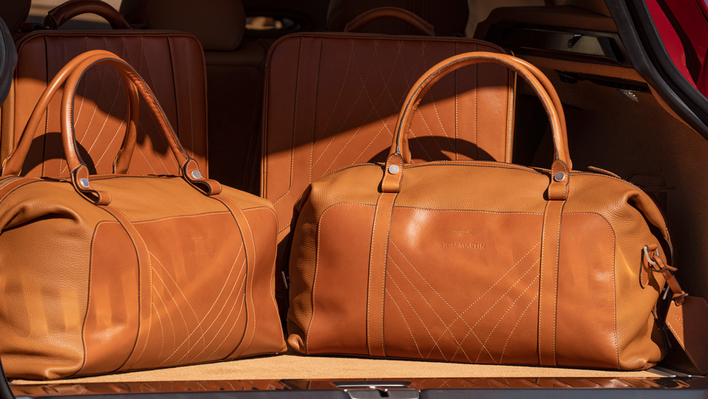 The Aston Martin DBX luggage set.