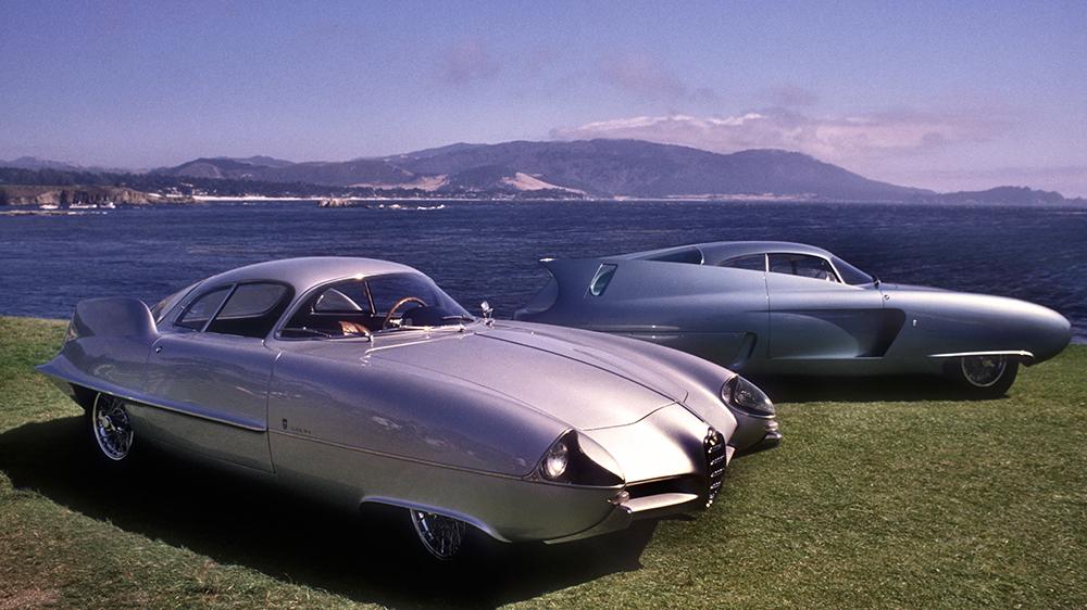Alfa Romeo BAT cars. Bat 9 1955 and Bat 7 1954 at Pebble beach.