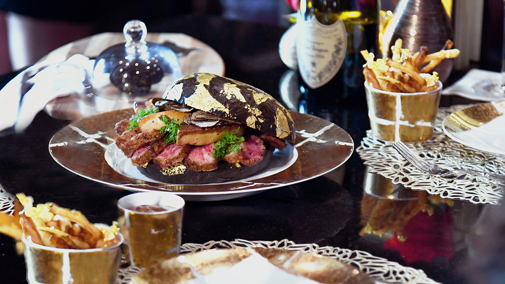 Black Gold Burger at H Bar in Houston