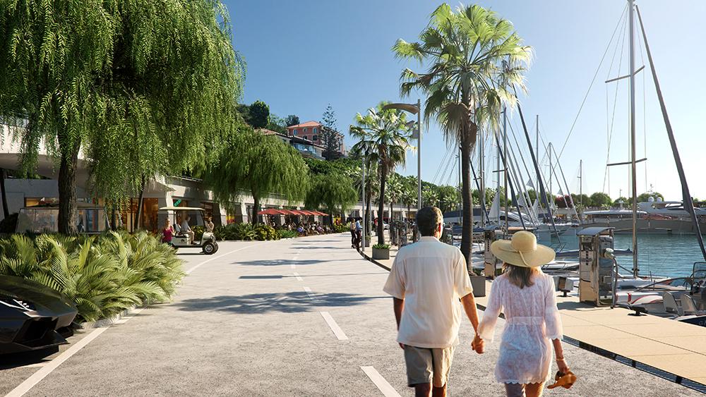 Cala del Forte marina in Monaco