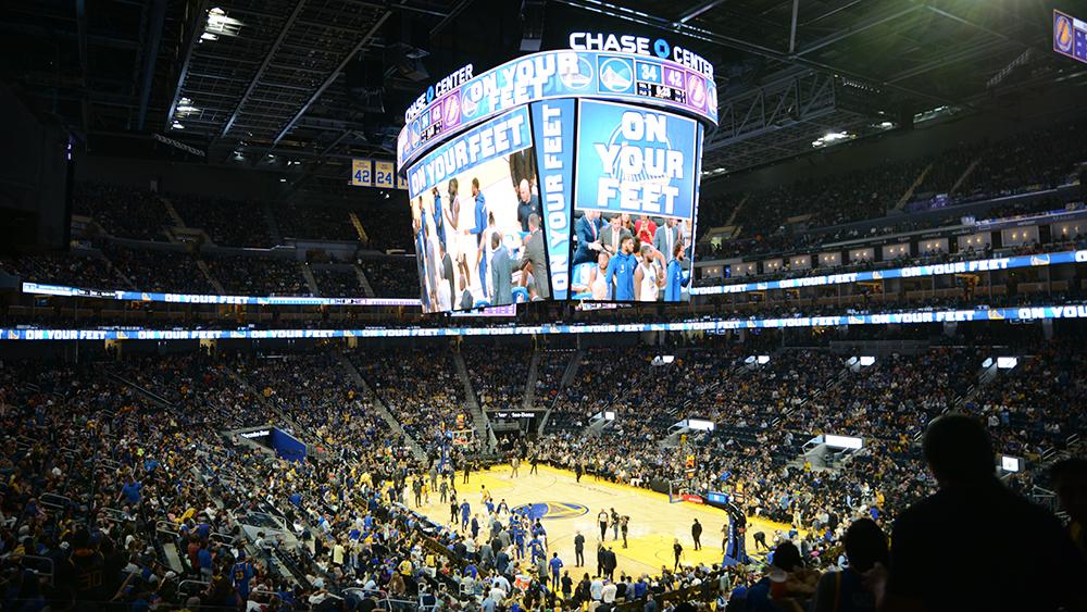 Chase Center Scoreboard
