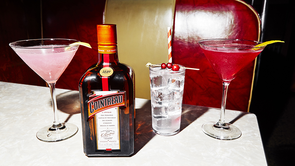 Cointreau and Cosmopolitan at the Long Island Bar in Brooklyn