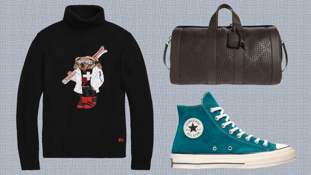 A Polo Bear turtleneck and Converse hi-tops in suede made our weekly list of the best fall menswear to buy right now.