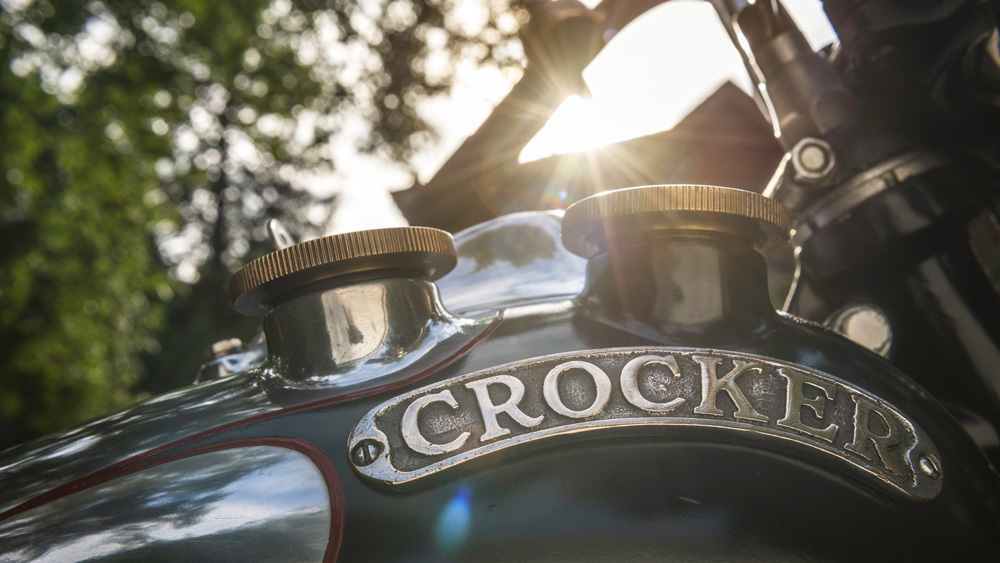 A 1940 Crocker Big Tank V-Twin.