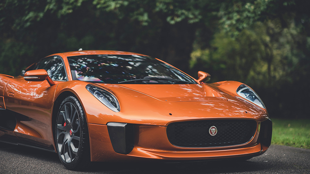 The 2015 Jaguar C-X75 used in the filming of 'Spectre'