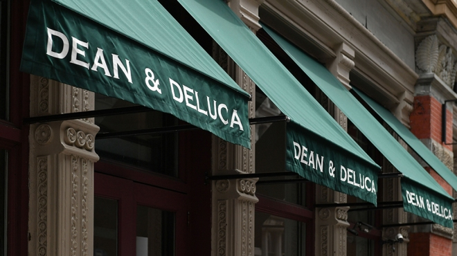 The awning outside Dean & DeLuca's flagship Manhattan location