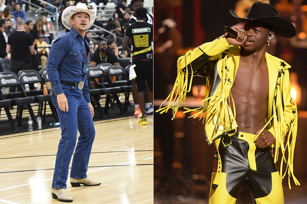 Diplo and Lil Nas X cashing in on the western menswear trend.