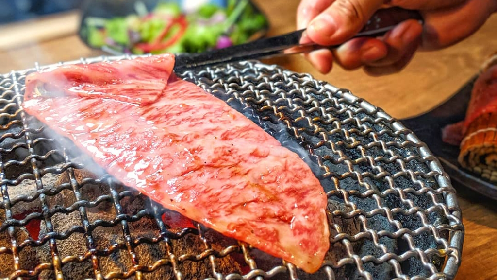 grilled a5 wagyu Sumibiyakiniku Nakahara