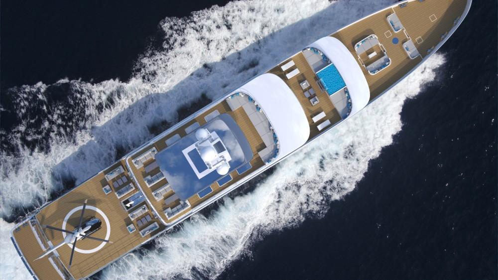 Gil Schmid Design's 80 Meter Hybrid Explorer Superyacht concept