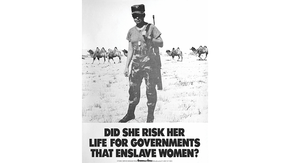 Guerrilla Girls, Did She Risk Her Life For Governments That Enslave Women? (1991).