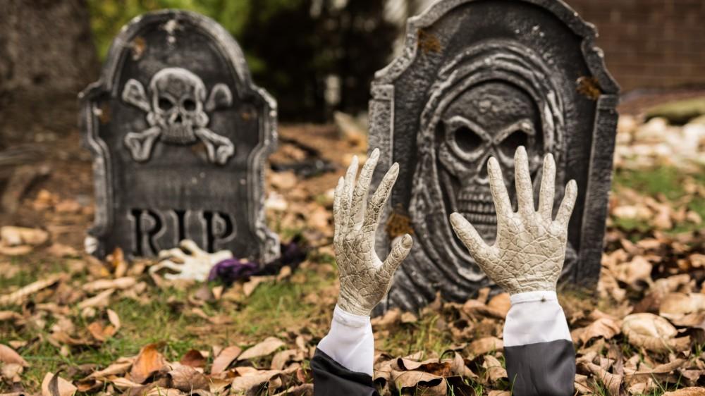 Halloween decorations in London